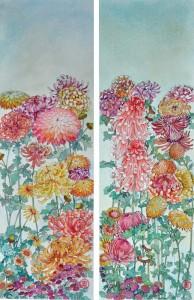 Chrysanthemums_Hokusai