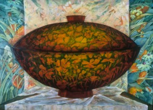 "Lidded_bowl_oil_22""x30"""