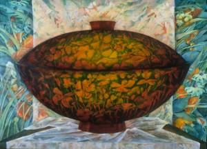 """Lidded_bowl_oil_22""""x30"""""""