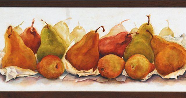 Presenting Pears, Oil, 7″ x 14″