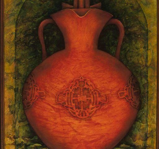 Three Handled Pot, Oil, 22″ x 30″