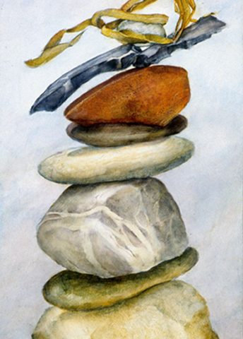 Daytime Rocks, Oil, 12″ x 6″