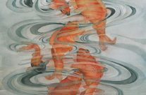 Eight Koi, Watercolor, 22″ x 30″