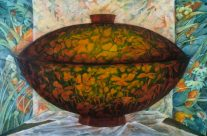 Lidded Bowl, Oil, 22″x30″