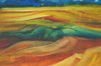 Rolling Hills, Oil, 7.5″ x 10″