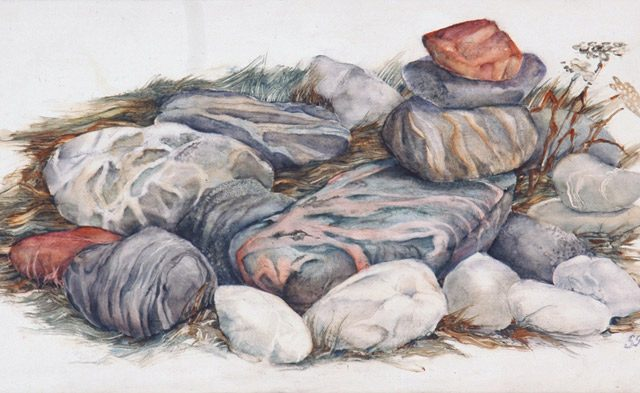 Waiting Stones, Oil, 6″ x 12″